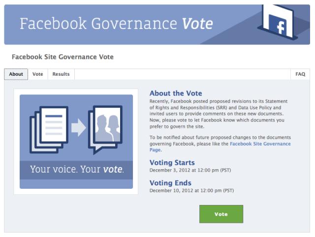 Facebook Governance Vote