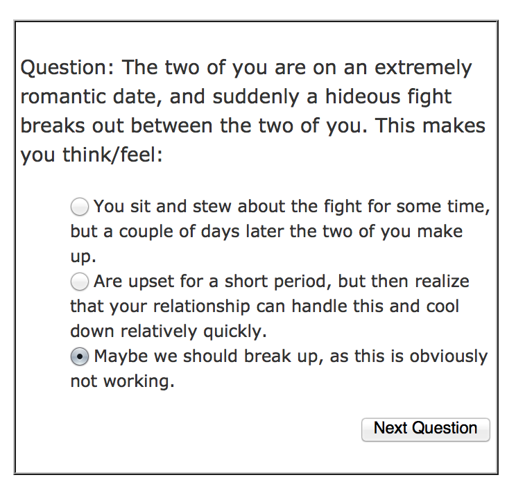 test about love
