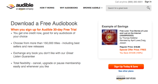 Free Love 30 Day Audible